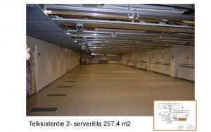 telkkistentie serveritila 257.4m2