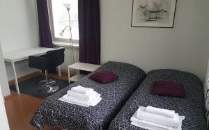 asunto Minna Canthin katu makuuhuone